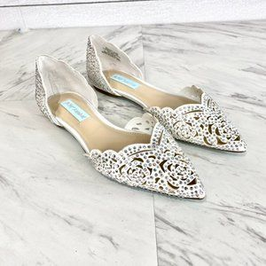 Blue by Betsey Johnson Lucy Embellished Flats NEW
